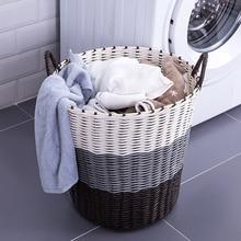 1PC Simple Style Home Plastic Rattan Laundry Storage Kids Toys Organizer Washing Clothes Basket Bathroom Sundries Storage Basket