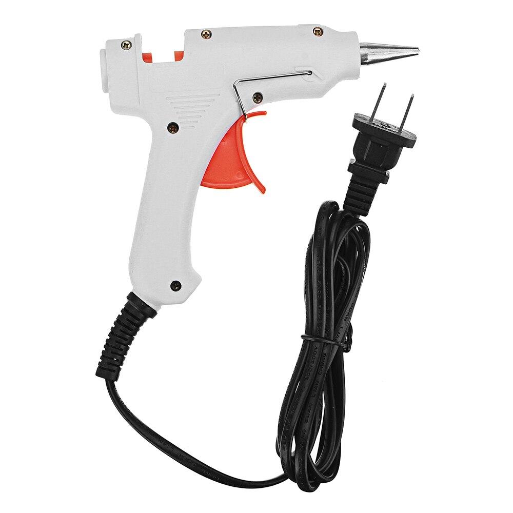 1 unidad de interruptor eléctrico de pistola de fusión en caliente AC 100 ~ 240V 30W, alta temperatura, sin fugas de pegamento para palos de 7mm, artesanías DIY, enchufe estadounidense de alta calidad
