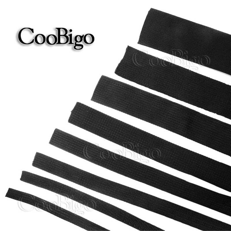 1 ярд многоразмерная полипропиленовая черная волоконная тесьма ленточный ремешок ремни Ремни ошейник для собак уличные рюкзаки сумки запчасти