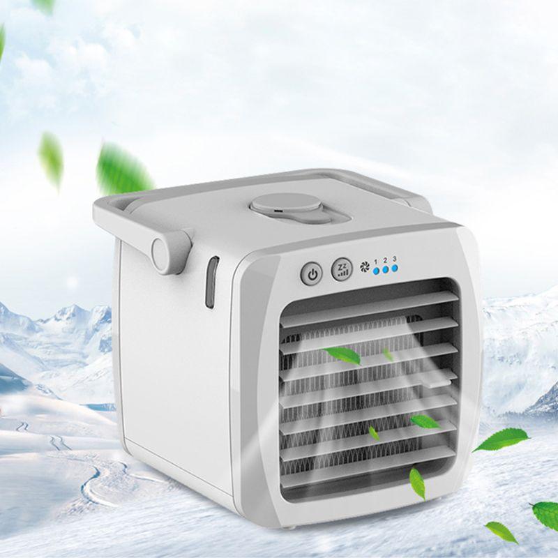 Mini aire acondicionado portátil humidificador purificador enfriador de aire espacio Personal ventilador de refrigeración de aire para Oficina Coche de casa