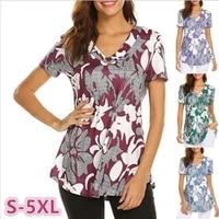 plus size 5xl 2019 tees women floral print t shirt women sunshine loose these tee unisex t shirt female fashion travel tops