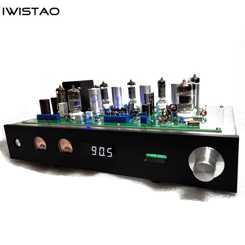 IWISTAO-راديو FM ستريو مع أنبوب مصقول ، هيكل من الفولاذ المقاوم للصدأ ، لوحة ألومنيوم سوداء ، صوت HIFI AC 220V