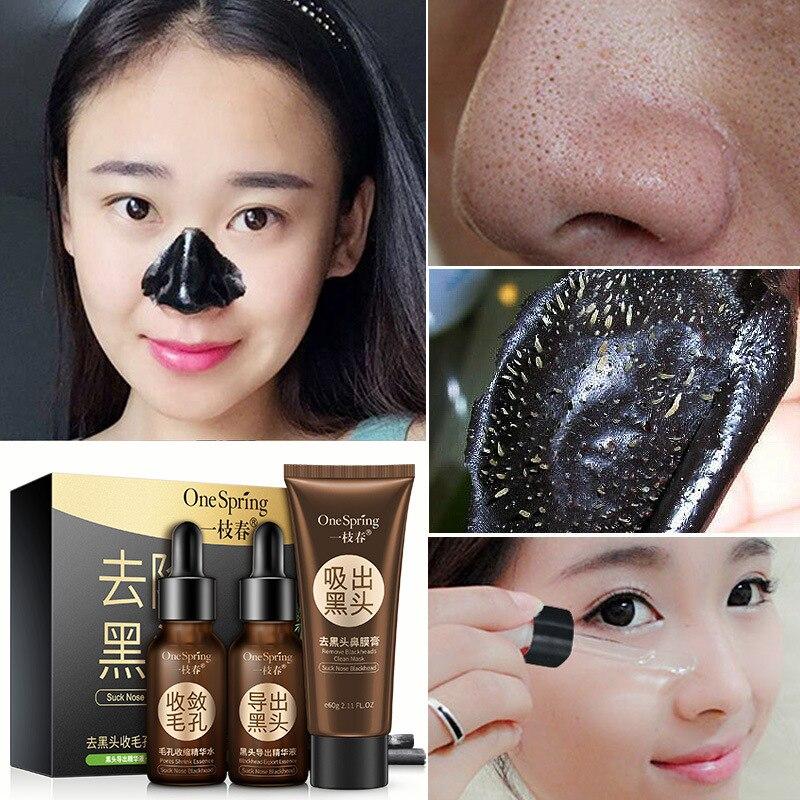 Conjunto de cuidado de poros para espinillas venta al por mayor mascarilla líquida Crema para encogimiento de poros agua cuidado de la piel