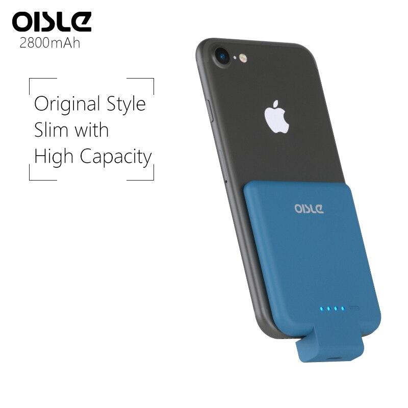 2800mAh Chargeur Portable Sans Fil Pour iPhone 7 Boîtier De Batterie batterie de secours extra plate Pour iPhone 8 6 s 5s SE Chargeur De Batterie De Secours Cas