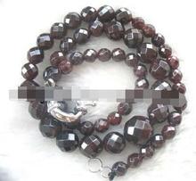 "Jewelr 006459 granate ronda facetas 6 - 12 mm collar 18 la naturaleza """