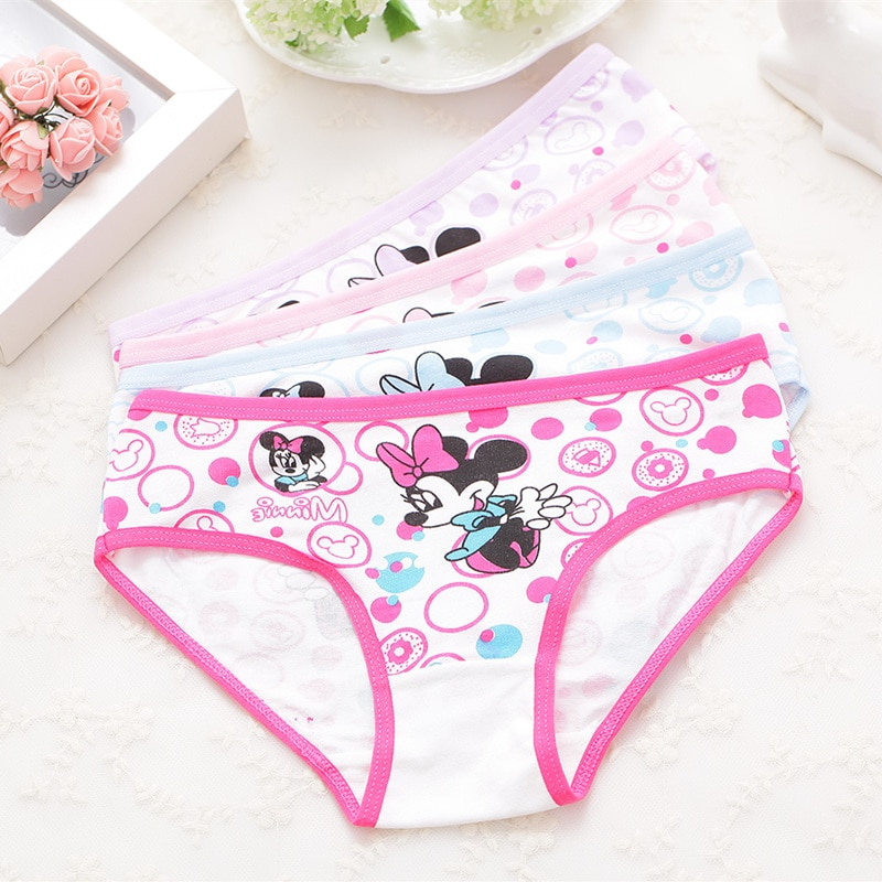 4 PCS/Lot Baby Underwear Kids Panties for 2-11 Years Girls Toddler Children Cotton Underpants Briefs