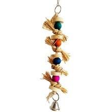 Jouet à oiseaux chauds en bois   Perruche, jouet à mâcher naturel, Cage à oiseaux perroquet balançoire, boule à mordre, fournitures pour oiseaux de compagnie