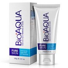 Bioaqua Men women Acne Treatment Facial Cleanser Black Head Remove Oil-control Deep Cleansing Foam Shrink Pores 100g