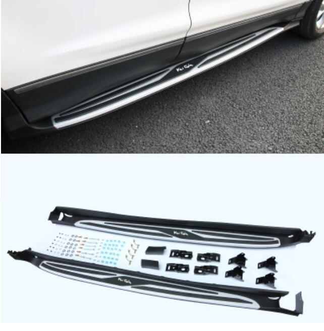 Juego de 2 unidades de aleación de aluminio para coche y de ABS para carrera, protección de barra de paso lateral para Ford KUGA 2013-2019