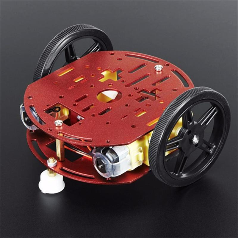 FEETECH Starter Kit Смарт робот автомобилей FT-DC-002 стволовых игрушки шасси комплект двигателя образования построить RC автомобиль для arduino Diy рамка комплект