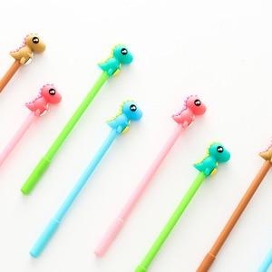 16 Pcs Cartoon Funny Little Monster Neutral Pen Korean Stationery Student Stationary Black Signature Pen Gift School Supplies