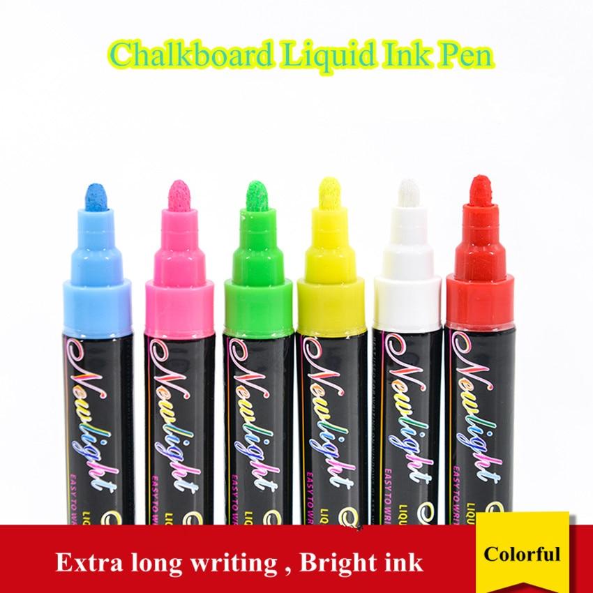 Bolígrafo de tinta líquida reescribible POP para ventanas de vidrio pizarra para marcador bolígrafo placa fluorescente