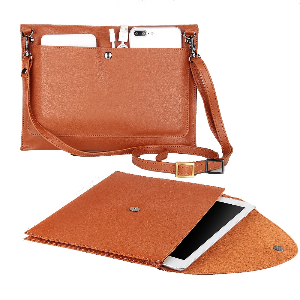Funda Universal de piel suave de 10,5 pulgadas para iPad 9,7 2017 2018 iPad Air 2 Pro 9,7 iPad Mini 4 3 2, funda portafolio, bolsa de hombro para tableta