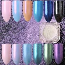 1.5g/Box BORN QUEEN Diamond Pearl Powder Mermaid Nail Glitters Nail Dust Chrome Pigments Manicure Nail Art Decoration
