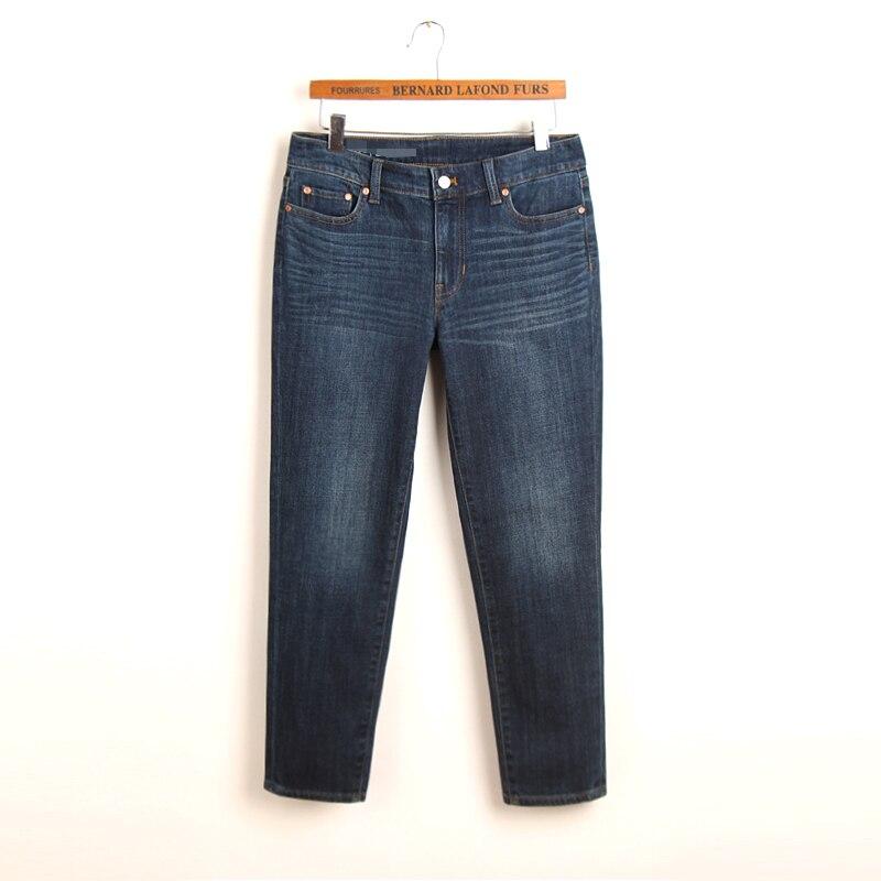Cintura alta primavera moda feminina estilo reto lavagem de água tornozelo comprimento casual jeans feminino na moda vintage plus size denim inferior