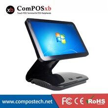 Système de position tactile à écran unique de 15.6 pouces, Machine de position tactile tout-en-un avec exposition client VFD
