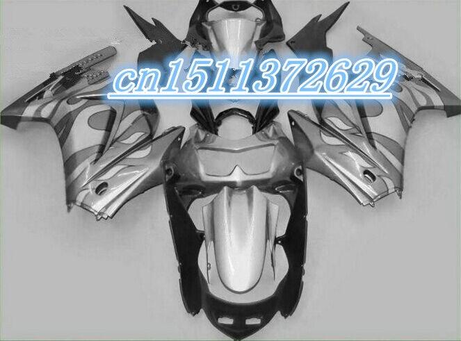 Bo ABS negro plata carenado para azul KAWASAKI Ninja ZX-250R 2008-2012 ZX 250R 08 09 10 11 12 2008, 2009, 2010, 2011, 2012