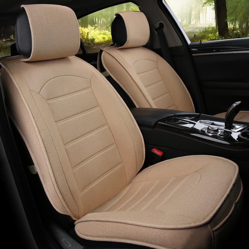 Funda de asiento de coche Universal de fibra de lino para Hyundai avante solaris veloster hyundai i30 grandeur sonata i40