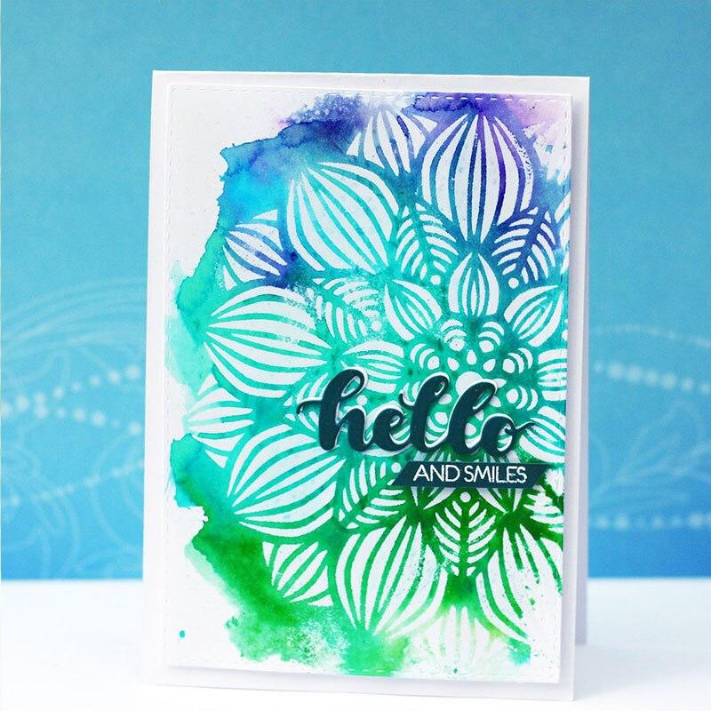 Plantilla de plástico con diseño de Mandala para manualidades, álbum de recortes, dibujo en relieve, tarjetas de papel decorativas, plantillas de Artesanías hechas a mano, Nuevo 2018
