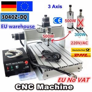 【DE NO VAT】 3 Axis 3040 Z-DQ CNC 500W Spindle CNC ROUTER ENGRAVER ENGRAVING Milling Cutting DRILLING Machine Ballscrew 220V/110V