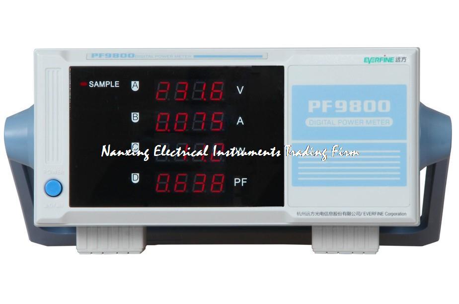 سريع وصول جديد العلامة التجارية Everfine PF9800 الرقمية السلطة متر 600V ، 20A مقياس الواط الاستخبارات الطاقة محلل ل V/A/W/PF