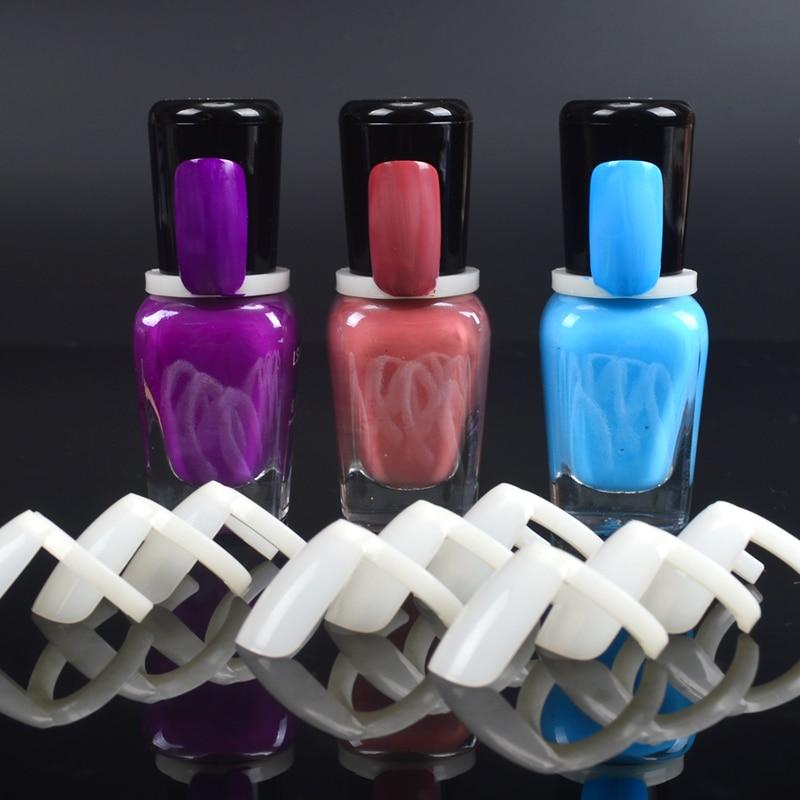 Federación 50 Uds esmalte de uñas Gel UV Color Natural de exhibición Arte de uñas anillo de estilo de uñas gráfico completo de uñas