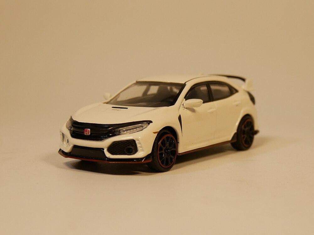 Tsm modelo 1: 64 mini gt honda civic tipo r diecast modl carro