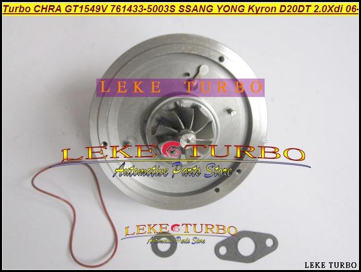 Livre o Navio A6640900880 GT1549V Turbo Cartucho CHRA 761433-5003 S 761433 761433-0003 Para SSANG YONG Actyon Kyron 2006-D20DT 2.0L