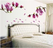 Autocollant mural 3D fleur de Magnolia   Nouvelle collection, autocollant Photo joyeux, affiche murale, cadre Photo, Base dart, décoration bricolage faire maison plus chaud