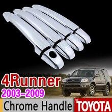 Couvercle de poignée chromée   Pour Toyota 4Runner N210 2003-2009, jeu de garniture, SW4 Hilux Surf 2004 2005, accessoires autocollant style de voiture