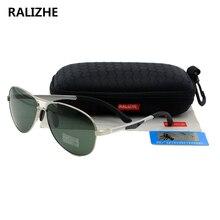 RALIZHE Top Quality Brand Designer Fashion Women Polarized Sunglasses Aviation Unisex Metal Classic
