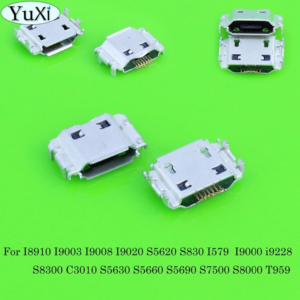 YuXi 7 pin enchufe Dock jack Conector micro mini USB puerto de carga piezas de reparación para Samsung Galaxy i9000 I9003 I9008 I9020