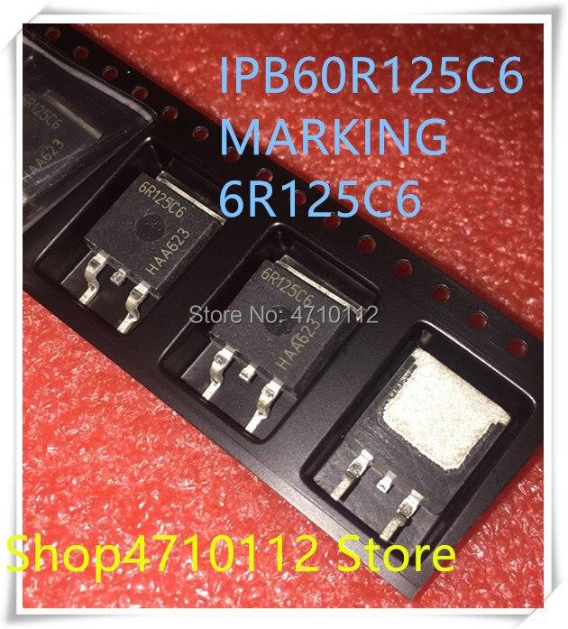 Nuevo 10 unids/lote 6R125C6 IPB60R125C6-263 IC