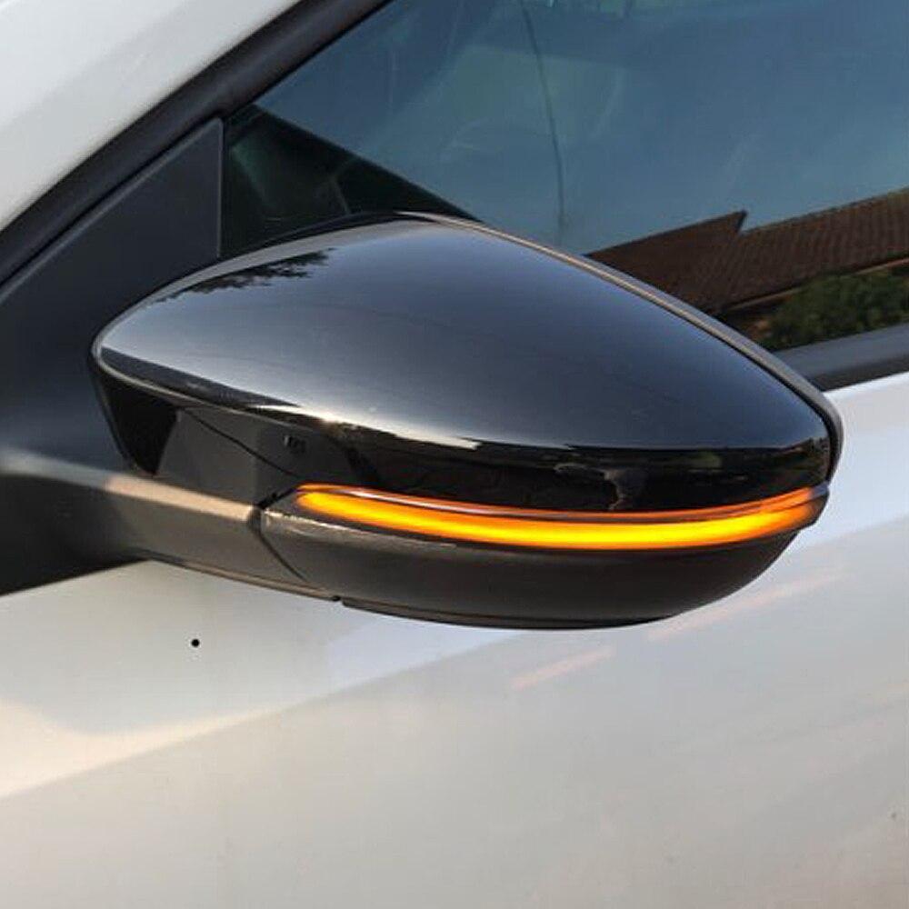 Luz LED de señal de giro dinámica de ala lateral ANZULWANG para VW Passat CC B7 Beetle Scirocco Jetta MK6 Euro, indicador de espejo retrovisor
