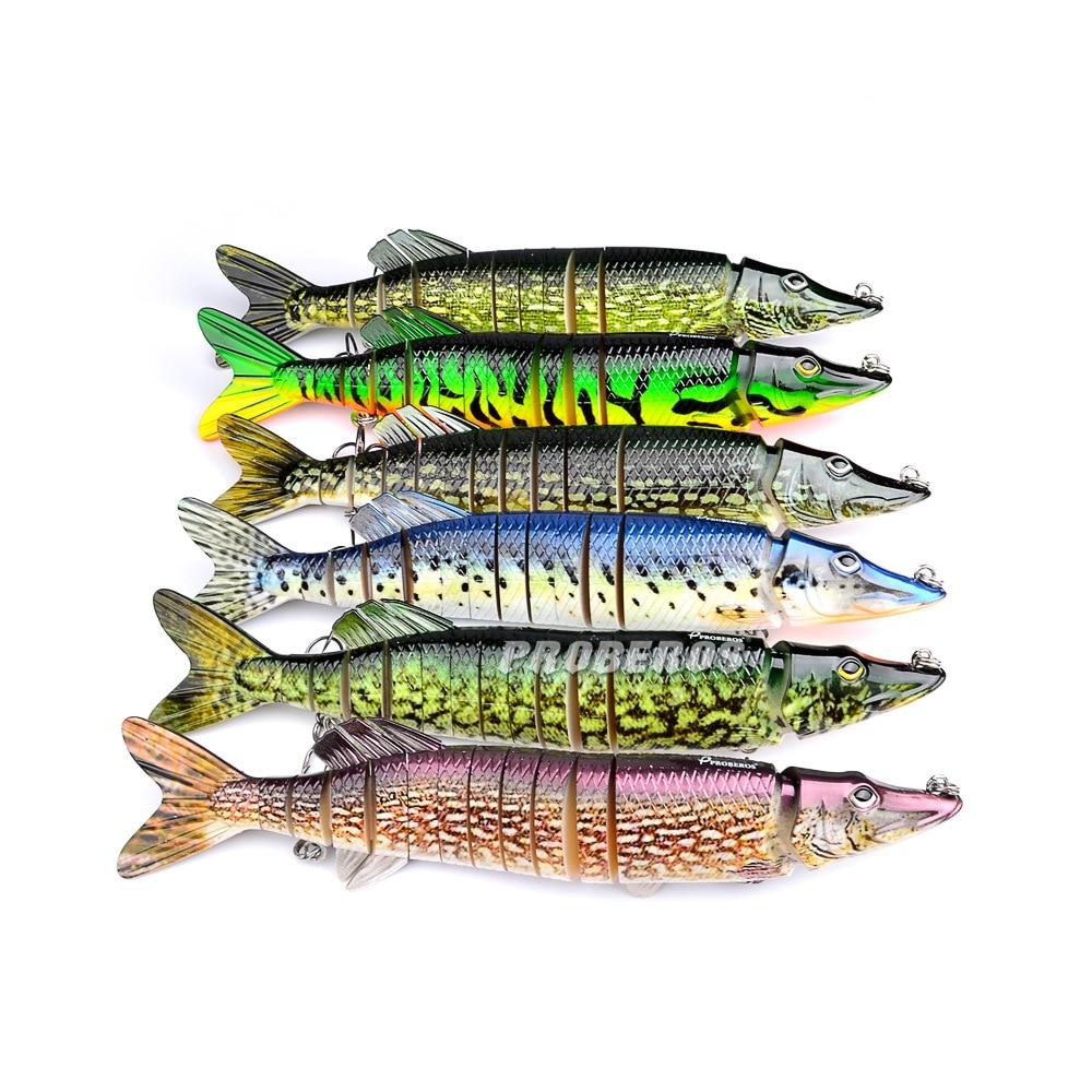Alta simulación realista pescado 30 cm 219 g Pike Muskie señuelos 8 para Pesca duro cebo anzuelo triple aparejos de Pesca herramienta