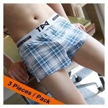 High Quality Boxers Comfortable Homewear Panties Casual Sleep  Strip Loose 2019 Man Underpants Shorts