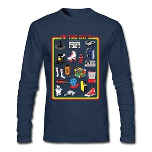 I LOVE THE 80'S T-Shirt Men Crewneck Comfortable Funny Graphic T Shirts Pre-cotton Adult On Sale Clothing
