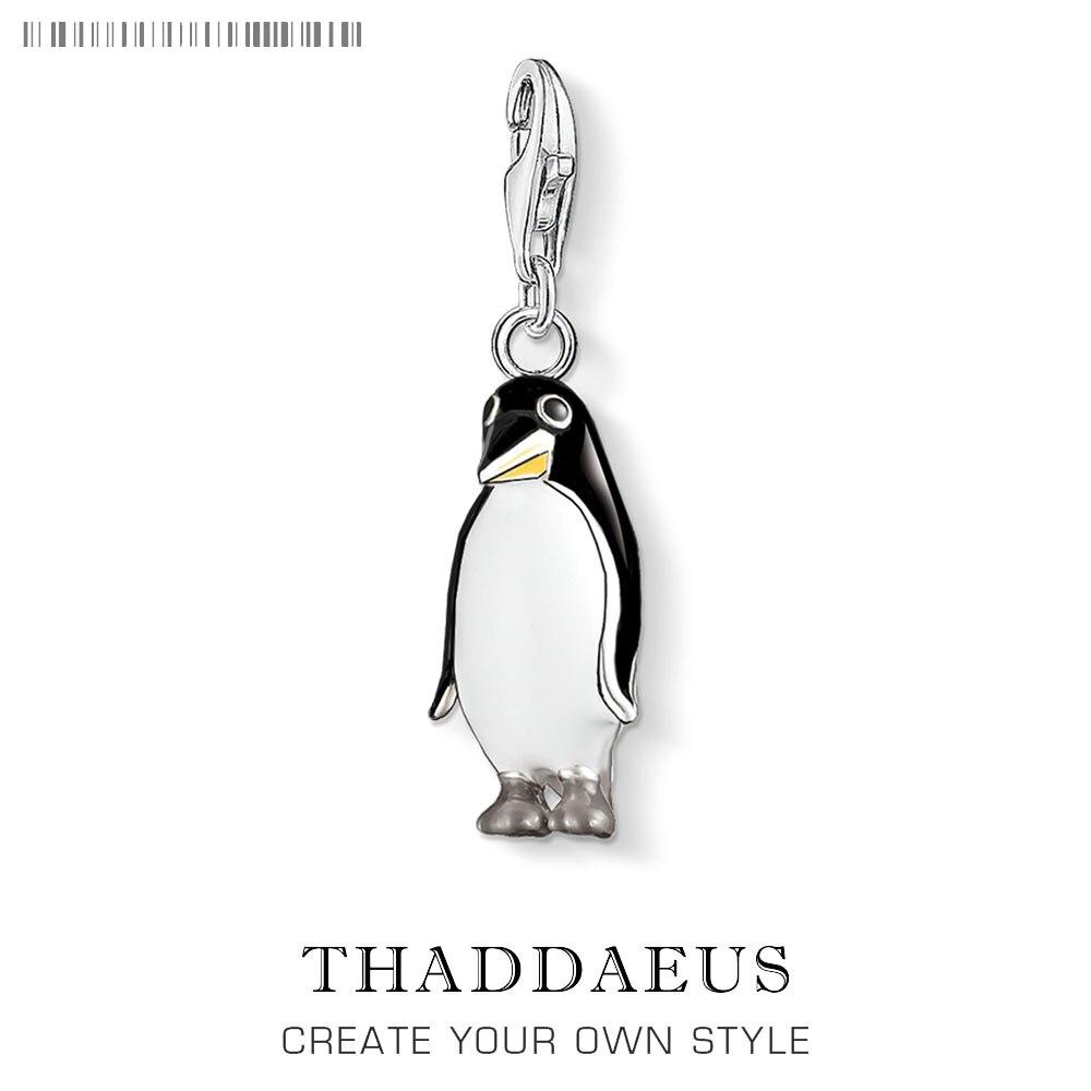 Женский-кулон-с-подвеской-в-виде-пингвина-из-серебра-925-пробы