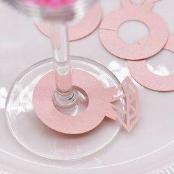 10 pcs Características do Vidro de Vinho Cartões Decorativos Cartão Copo de Vinho Decoração Da Tabela Do Casamento de Noivado Chuveiro Decorações da Festa de Despedida