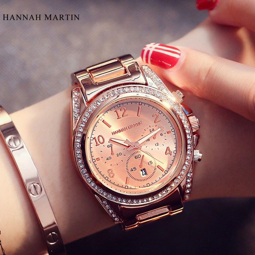 Кварцевые часы Hannah Martins, женские часы от знаменитого бренда, наручные часы