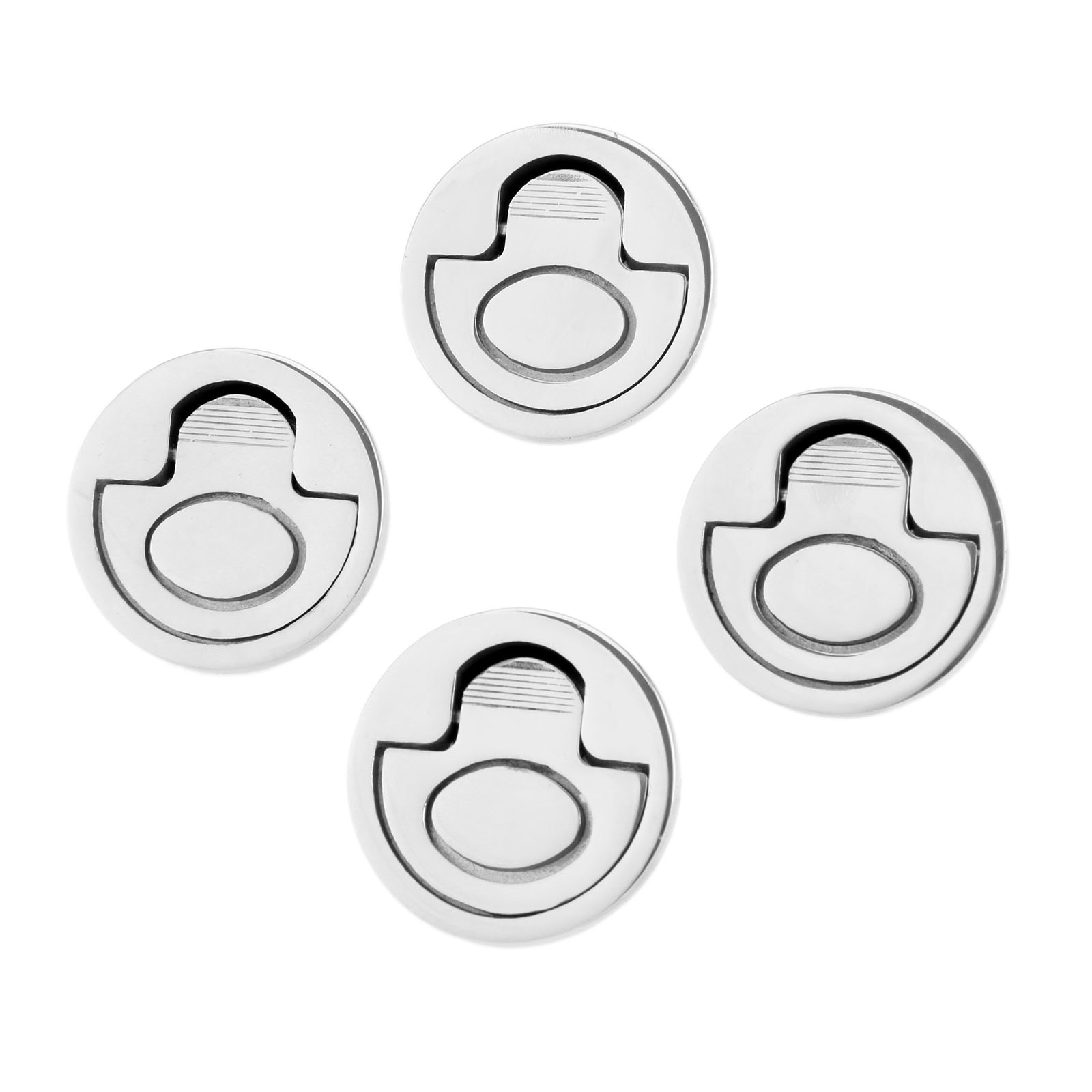 Boats Stainless Steel 4 Pcs Round 50mm 2
