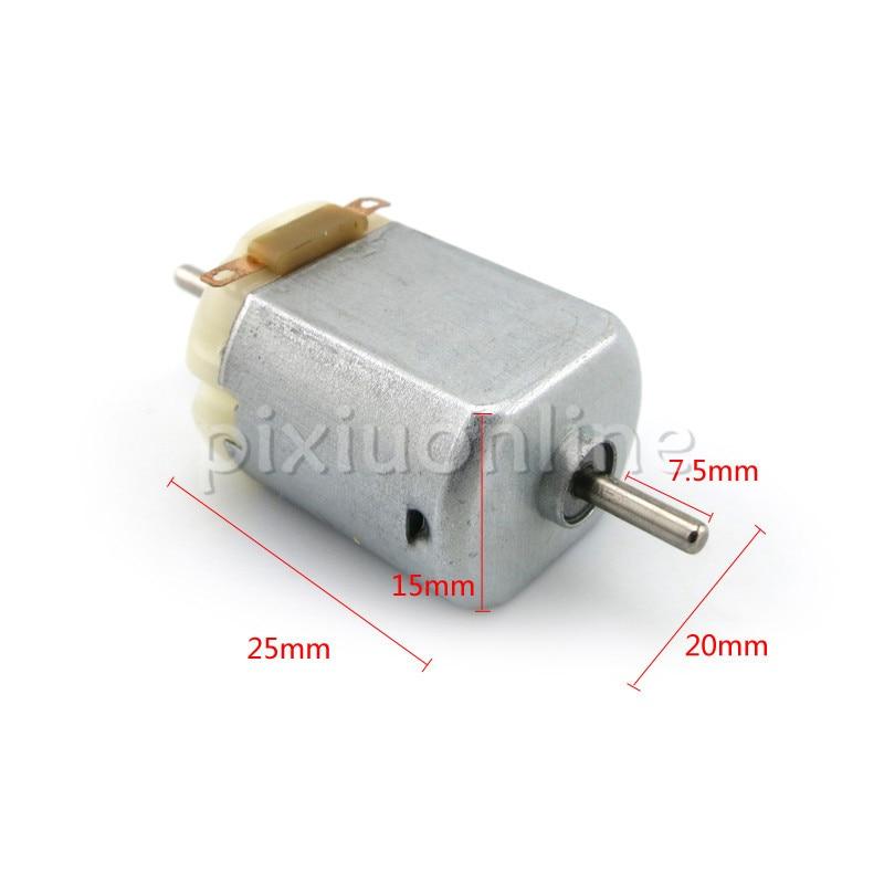 J248b Micro DC-Motor 130 doble salida eje Motor 3 V 15000 RPM DIY modelo máquina fabricación pequeña DC el Motor se vende con pérdida