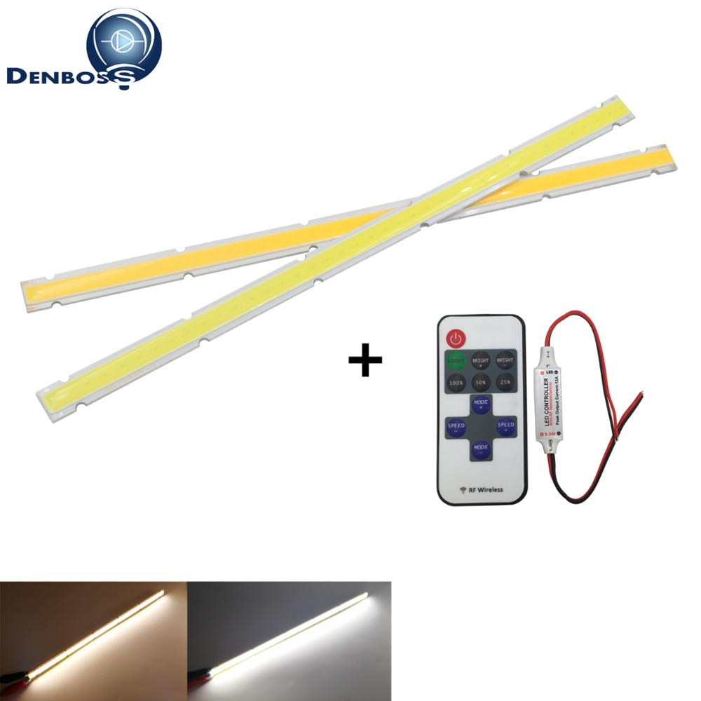 Tira conduzida regulável da espiga fonte de luz da barra de 250mm 12mm com a lâmpada de controle remoto 12 v dc branco quente 10 w conduziu a microplaqueta da aleta para o bulbo de diy