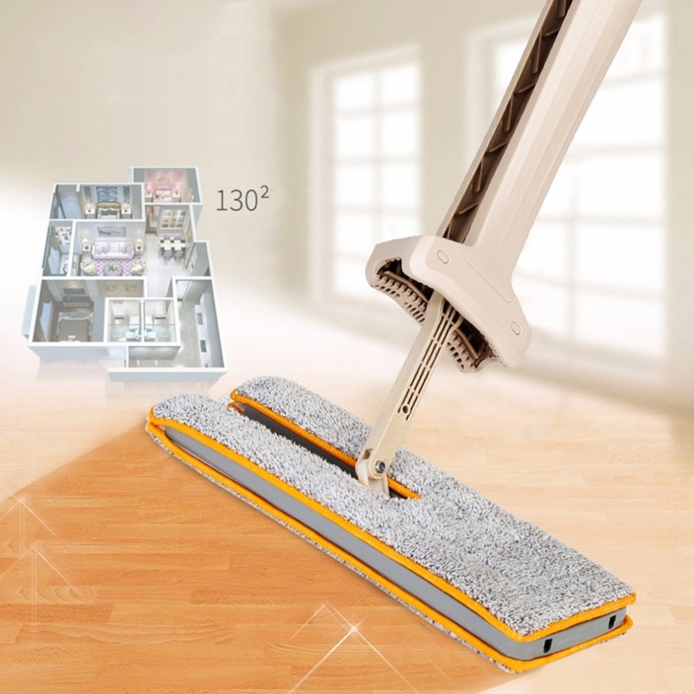 Auto-torcendo dupla face plana mop telescópica confortável lidar com mop piso ferramenta de limpeza para sala de estar cozinha transporte da gota