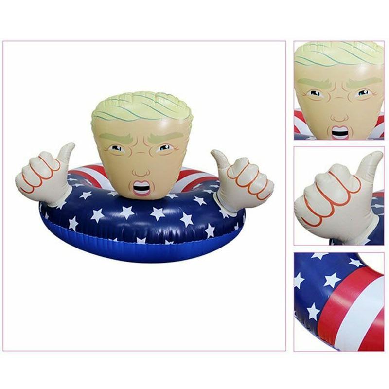 Inflables anillo de natación Trump verano Fiesta EN LA Piscina nadar anillo lifebuoy gran piscina para niños juguetes LB88