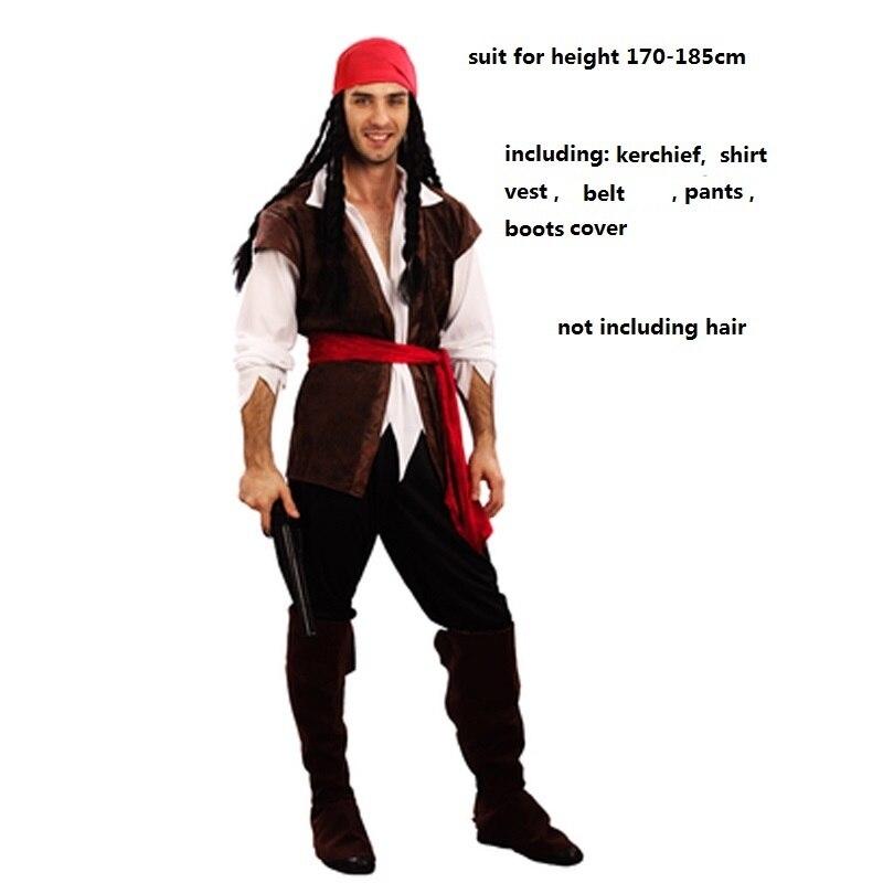 Женский и мужской пиратский костюм Jack Sparrow маскарадный для взрослых карнавальный