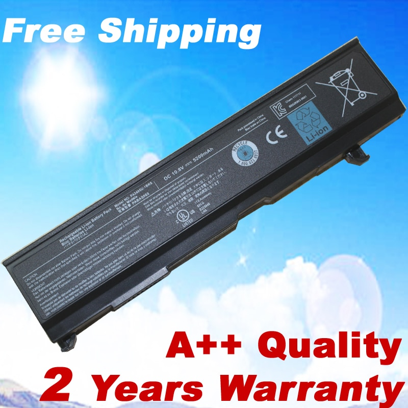Batería de 5200MAH para Toshiba Satellite A80 A85 M45 M55 M70 PA3465U-1BRS