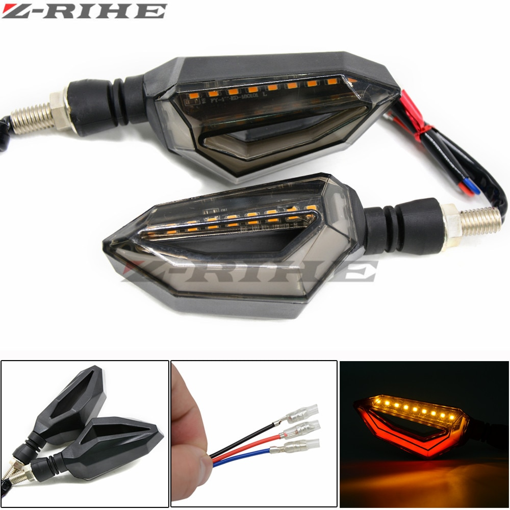 Vuelta de la motocicleta de la señal LED intermitentes luces led luces intermitentes para Kawasaki ZX600 Ninja ZX-6R ZX6R ZX900 ZX-9R ZX750-H1 ZX-7R
