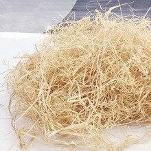 100g/200g doğal renksiz rafya jüt hediye/düğün şeker ambalaj malzemesi kutu dolgu malzemeleri rendelenmiş kırışık kağıt