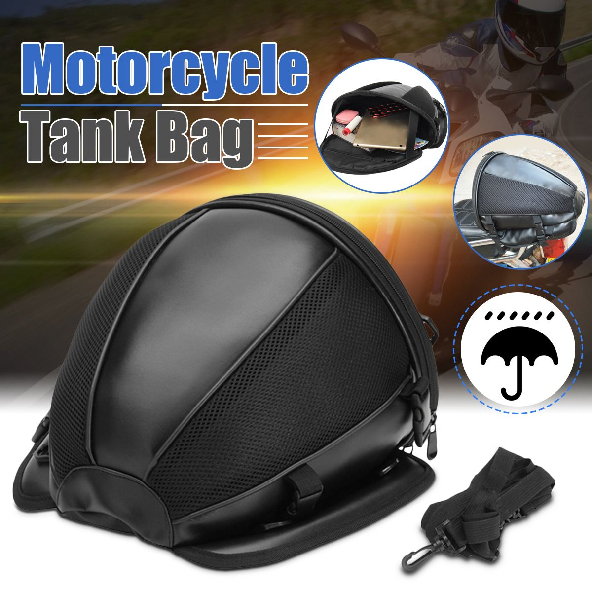 Mofaner, bolsa de tanque de aceite para motocicleta, herramienta impermeable, equipaje, equitación, tribu, viaje, motocicleta, Scooter, bolsas de cola